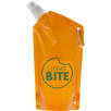 600ml Carabiner Fold Away Bottles in Transparent Orange