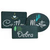 Reusable Blackboard Name Badges in Black