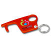 Hygiene Hook Keyring in Red