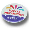 Social Distancing Recycled Plastic Badges (37mm diameter)
