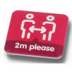 Social Distancing Recycled Plastic Badges (37mm x 37mm)