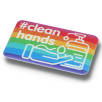 Social Distancing Recycled Plastic Badges (70mm x 43mm)