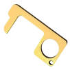 Branded Hygiene Hook Keyring In Matt Gold For UK Businesses From Total Merchandise