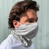 Branded Face Mask Scarf With Filter Pocket In Grey From Total Merchandise