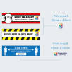 Keep Apart Non Slip Floor Graphics With Print Area Information From Total Merchandise