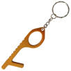 Metal Hygiene Hook Keyrings in Orange
