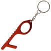 Metal Hygiene Hook Keyrings in Red