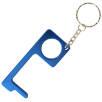 Metal Hand Hygiene Tool Keyrings in Blue