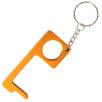 Metal Hand Hygiene Tool Keyrings in Orange