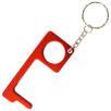Metal Hand Hygiene Tool Keyrings in Red