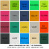 Vinyl Colours for Cad Cut Transfer on Bags Printed by Total Merchandise