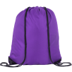 Individually Named Drawstring Bags in Purple