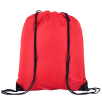 Individually Named Drawstring Bags in Red