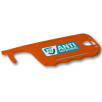 Antimicrobial ID Card Holder Hygiene Key in Orange