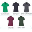 Individually Named Fruit of the Loom Lady Fit Polo Shirts