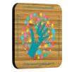 Printed Square Bamboo Coasters