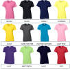 Individually Named Gildan Ladies Heavy Cotton T-Shirt Colour Options