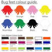Feet/Ribbon Colour Guide for Face Mask Message Bugs