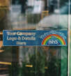 Self-Cling Window Stickers for NHS Support