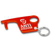 Antimicrobial Hygiene Hook Keyring in Red