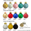 Glass Christmas Baubles Pearl, Metallic & Egg Shell Colours