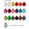 Glass Christmas Baubles Matt Colours