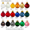 Glass Christmas Baubles Glossy Colours