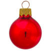 Glass Christmas Baubles in Metallic AX22-26670 PMS 200C RED