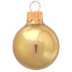 Glass Christmas Baubles in Metallic AX22-4816 PMS 135C GOLD