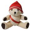 10 Inch Honey Jointed Teddy Bear with Christmas Hat and Sash