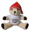 10 Inch Honey Jointed Teddy Bear with Christmas Hat and T-Shirt