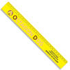 30cm Recycled Plastic Rulers in Yellow
