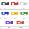 Webcam cover colour options for Work From Home Gift Sets