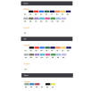 Colour options for BiC Media Clic Biodegradable Ballpens
