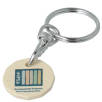 Recycled Biodegradable Plastic Trolley Coin Keyrings in Sand