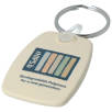 Recycled Biodegradable Plastic Keyrings in Sand