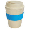 Eco Reusable Coffee Cups in Natural/Light Blue