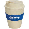 Eco Reusable Coffee Cups in Natural/Dark Blue