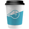 4-7 Day Double Walled Paper Cups in White/Black
