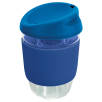 Kiato Reusable Glass Coffee Cups in Dark Blue