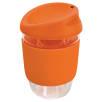 Kiato Reusable Glass Coffee Cups in Orange