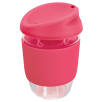 Kiato Reusable Glass Coffee Cups in Pink