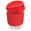 Kiato Reusable Glass Coffee Cups in Red