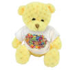 15cm Waffle Bears with T Shirts in Sunshine