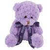 15cm Waffle Bears with Bows in Orchid