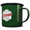 20oz Premium Enamel Mugs in Green/Black