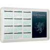 Aluminium Calendar Coasters in White