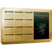 Aluminium Calendar Coasters in Gold Grain