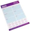 25 Sheet A4 Notepads in White