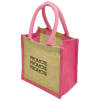 Wells Jute Tiny Gift Bags in Pink